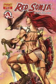 Red Sonja #28 Adrian Red Foil Variant COA Ltd 220 Dynamite Entertainment
